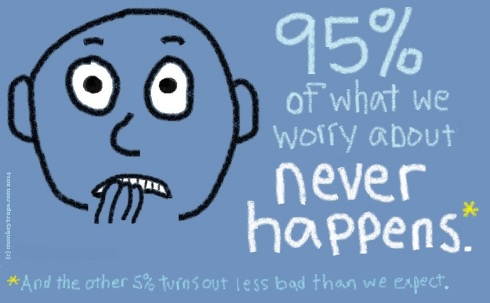 [24] 181. 95% of what we worry about [E]