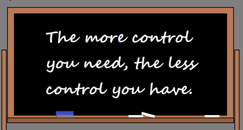 The more control you need