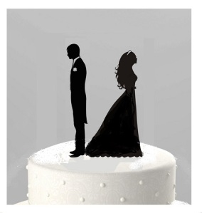 ~~~ bride and groom silhouette